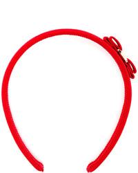 rotes Haarband von Salvatore Ferragamo