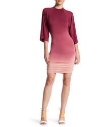 rotes horizontal gestreiftes figurbetontes Kleid