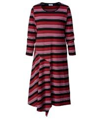 rotes horizontal gestreiftes Freizeitkleid von Angel of Style by Happy Size