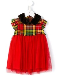 rotes Kleid mit Schottenmuster von Junior Gaultier