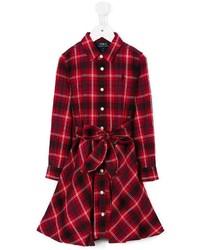 rotes Kleid mit Schottenmuster von Ralph Lauren