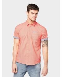 rotes Kurzarmhemd von Tom Tailor