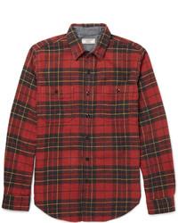rotes Langarmhemd mit Schottenmuster von J.Crew