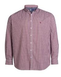 rotes Langarmhemd mit Vichy-Muster von Big fashion