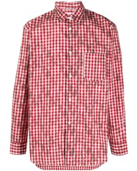 rotes Langarmhemd mit Vichy-Muster von Comme Des Garcons SHIRT