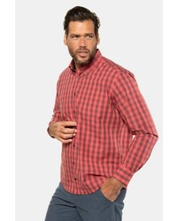 rotes Langarmhemd mit Vichy-Muster von JP1880