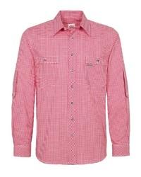 rotes Langarmhemd mit Vichy-Muster von SPIETH & WENSKY
