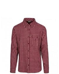 rotes Langarmhemd mit Vichy-Muster von Trespass
