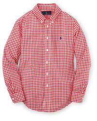 rotes Langarmhemd