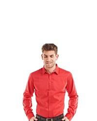 rotes Langarmhemd von EMILIO ADANI