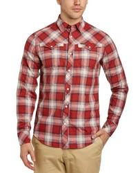 rotes Langarmhemd von G-Star RAW