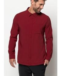 rotes Langarmhemd von Jack Wolfskin