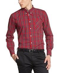 rotes Langarmhemd von Merc of London
