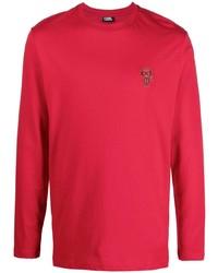 rotes Langarmshirt von Karl Lagerfeld
