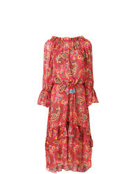rotes Maxikleid mit Paisley-Muster