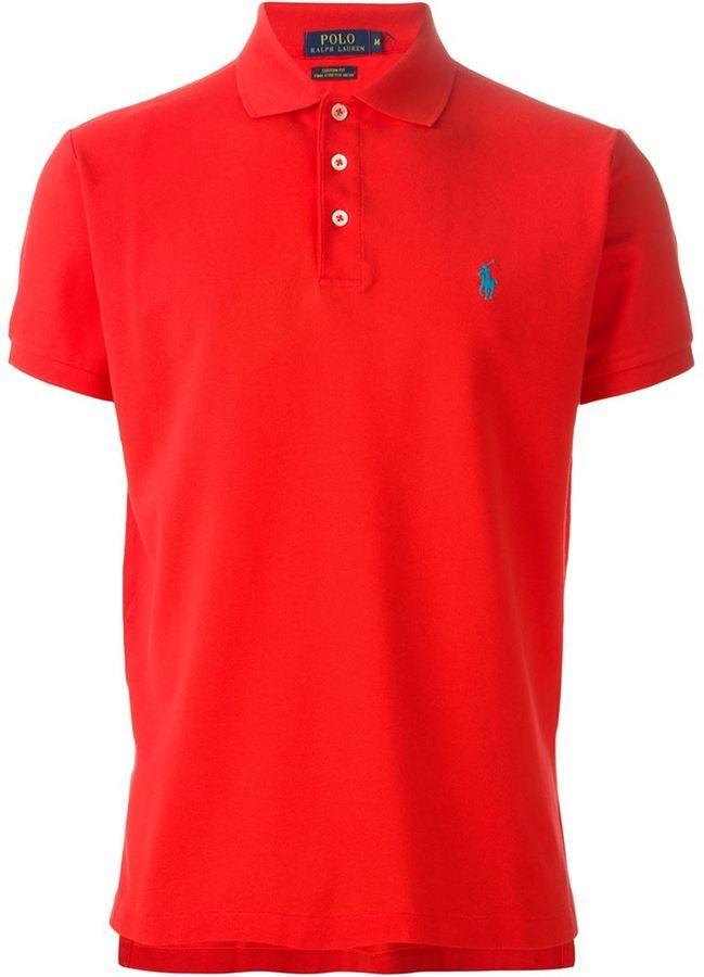 sale retailer 7aa54 3e0eb rotes Polohemd von Polo Ralph Lauren
