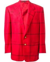 rotes Sakko mit Schottenmuster von Versace