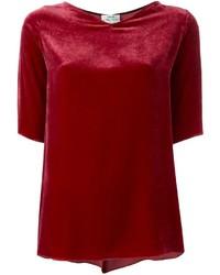 Modische rotes Samt T-shirt für Damen für Winter 2019 kaufen   Damenmode a70dcaaae0