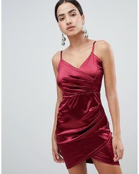 rotes Satin Cocktailkleid von AX Paris