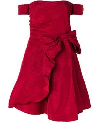 rotes schulterfreies Kleid von RED Valentino