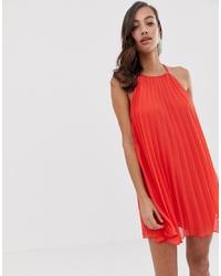 rotes schwingendes Kleid von ASOS DESIGN