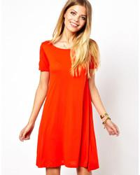 rotes schwingendes Kleid von Vero Moda