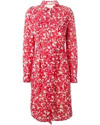 rotes Shirtkleid mit Blumenmuster von Tory Burch