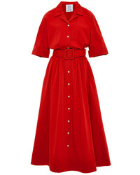 rotes Shirtkleid