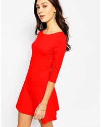 rotes Skaterkleid von Vero Moda
