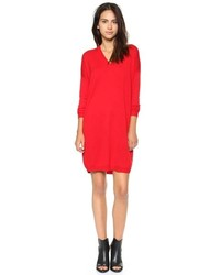 rotes Sweatkleid