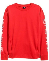 rotes Sweatshirt