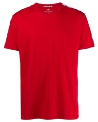 rotes T-Shirt mit einem Rundhalsausschnitt von Alpha Industries