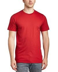 rotes T-Shirt mit einem Rundhalsausschnitt von Anvil