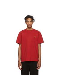 rotes T-Shirt mit einem Rundhalsausschnitt von CARHARTT WORK IN PROGRESS