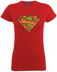 rotes T-Shirt mit einem Rundhalsausschnitt von DC Universe