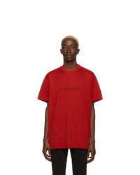 rotes T-Shirt mit einem Rundhalsausschnitt von Givenchy