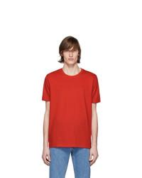 rotes T-Shirt mit einem Rundhalsausschnitt von Hugo