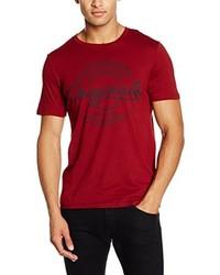 rotes T-Shirt mit einem Rundhalsausschnitt von Jack & Jones
