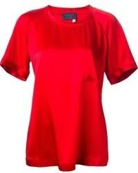 rotes T-Shirt mit einem Rundhalsausschnitt von Lanvin