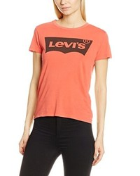 rotes T-Shirt mit einem Rundhalsausschnitt von Levi's