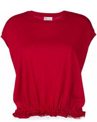 rotes T-Shirt mit einem Rundhalsausschnitt von RED Valentino