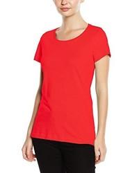 rotes T-Shirt mit einem Rundhalsausschnitt von Stedman Apparel