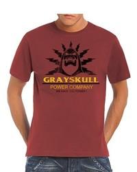 rotes T-Shirt mit einem Rundhalsausschnitt