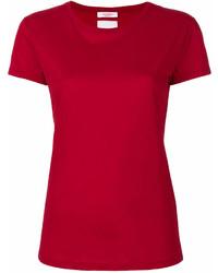 rotes T-Shirt mit einem Rundhalsausschnitt von Valentino