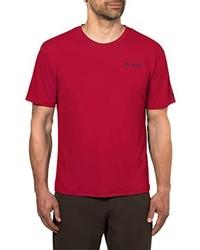 rotes T-Shirt mit einem Rundhalsausschnitt von VAUDE