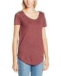 rotes T-Shirt mit einem Rundhalsausschnitt von Vero Moda