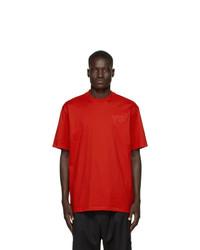 rotes T-Shirt mit einem Rundhalsausschnitt von Y-3