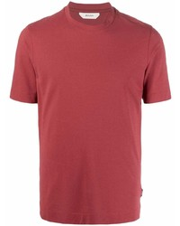 rotes T-Shirt mit einem Rundhalsausschnitt von Z Zegna