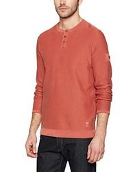 rotes T-shirt mit einer Knopfleiste von camel active