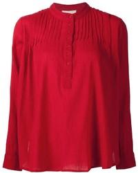 rotes T-shirt mit einer Knopfleiste von The Great